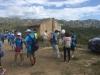 Et andet billede fra turens første etape med bjerge i baggrunden.