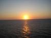 Solnedgang på skibet den 5 nov