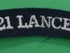 17th/21st Lancers cloth shoulder title. 110x21 mm.