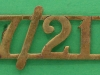 RW173. 17th/21st Lancers shoulder title for all ranks below R.S.M. 50x21 mm.