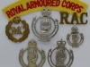 Royal Armoured Corps cap, collar and shoulder title.