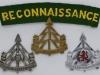 The Reconnaissance Corps cap and shoulder title.