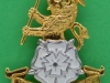 The Yorkshire Regiment 2006. Slide London Badge & Button. 38x46 mm.