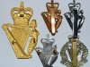 Ulster Defence Regiment to Royal Irish Regiment 1970-1992 regimental badges reverse.