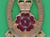 KK 2049. Queens Lancashire 1970-2006. (Lancashire POW & North Lancashire) officers, gilt and enamel, lug 31x46 mm.