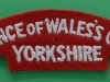 Prince of Wales`s Own Yorkshire Regiment cloth shoulder title. 110x35 mm.