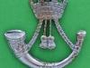 Somerset & Cornwall Light Infantry 1958-69. Officers beret or collar badge, Lugs  32x30 mm. Not in King & Kipling.