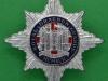 RH27. The Royal Dragoon Guards 1992. Slide London Badge & Button. 44x45 mm.