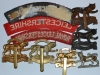 Royal Leicestershire Regiment badge group reverse.
