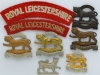 Royal Leicestershire Regiment badge group.