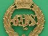 KK 737. Queens Bays, 2nd Dragoon Guards. 39x45 mm.