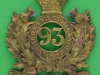 KK 566. 93rd Highlanders, Glengarry badge 1874-81. 60x67 mm.