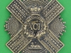 Pre 1881 XCII 92nd Gordon Highlanders cross belt plate badge. 70x94 mm.