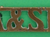 RW1407. Argyll & Sutherland Highlanders. Shoulder title gul 12x38 mm