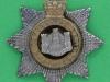 CW156. The Devonshire Regiment offcers collar badge, victorian crown. 31 mm.