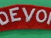 The Devonshire Regiment ww2 cloth shoulder title