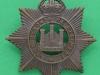 KK 602. The Devonshire Regiment, officers bronce badge. Gaunt Pin 41x43 mm.