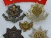 The Cheshire Regiment badges.