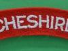 The Cheshire Regiment cloth shoulder title.