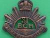 MC.50 31st Regiment British Columbia Horse. bronce. 35 x 33mm. Officers collar badge. Scarce.