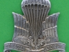 125-11-206. Canadian Parachute Corps 1942-1945 cap badge. Birks type silvered with replaced lugs. 38,7x39,3 mm.  (1)
