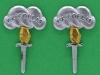 Canadian Airborne Regiment collar badges 1968-1995. 18 liner. 16x26 mm.