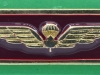 Canadian Airborne Regiment enamelled breast parachute wing, 50x17 mm.
