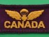 Canadian Airborne Regiment shoulder insignia no 1 dress. 60x25 mm.