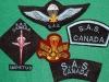 Canadian Special Air Service commemorative badges 1989
