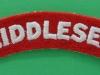 The Middlesex Regiment cloth shoulder title. 105x22 mm.
