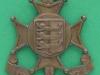 KK 1728. 5th The Cinque Ports Battalion the Royal Sussex Regiment. Lugs 36x46 mm.