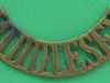 RW1279. The Middlesex Regiment shoulder title before 1902. 55x12 mm.