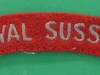 Royal Sussex Regiment cloth shoulder title. 90x20 mm