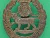 KK 679. The York and Lancaster Regiment. All brass 1916 badge. Slide 37x42 mm.