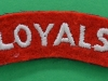 The Loyal North Lancashire Regiment cloth shoulder title 67x20 mm.