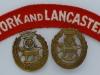 The York and Lancaster Regiment badges.