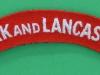 The York and Lancaster Regiment cloth shoulder title.