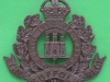 KK 605 Suffolk, officers bronce cap and collar badge. Lugs 46x42 mm.