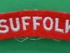 The Suffolk Regiment cloth shoulder title.