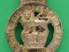 General Service Militia, Tarleton Helmet plate 1780. Very heavy. 30x53 mm.