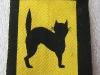 BRITISH 17th DIVISION MALAYA BLACK CAT PRINTED PATCH