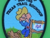 Saddle up for the Texas Trail Roundup. 74x100 mm.