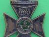 KK 1824. 6th Battalion City of London Rifles. Slide med hak. 40x55 mm.
