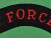 KK 2072. Victor (V) Force 1942, mainly Assam Rifles men. Shoulder title 99x27 mm.