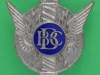 KRH106. British Broadcasting Cooperation War Correspondent badge. H. W. Miller safety pin 30 mm.