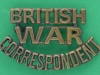 KRH108. British War Correspondent cap & shoulder badge. Safety pin 50x30 mm.
