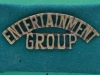 WW2 Entertainment Group shoulder title on green slide, 51 x 19mm