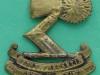 DC201, 3rd Auckland Regiment, collar badge, 31 x 33 mm