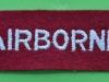 Airborne shoulder title, modern issue. 105x35 mm.