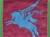 British Army Airborne Patch 1st And 6th Airborne Division Pegasus Patch 1943 Uniform removed Printed  56 x 63 mm.